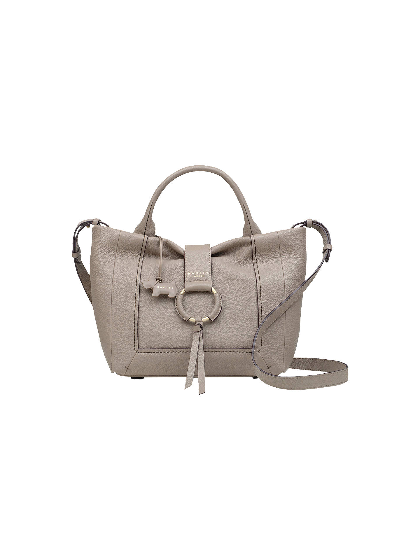BuyRadley Blickling Hall Medium Zip-Top Leather Grab Bag, Brown Online at johnlewis.com