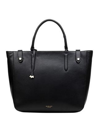 Radley Witley Large Open Top Leather Grab Bag Black