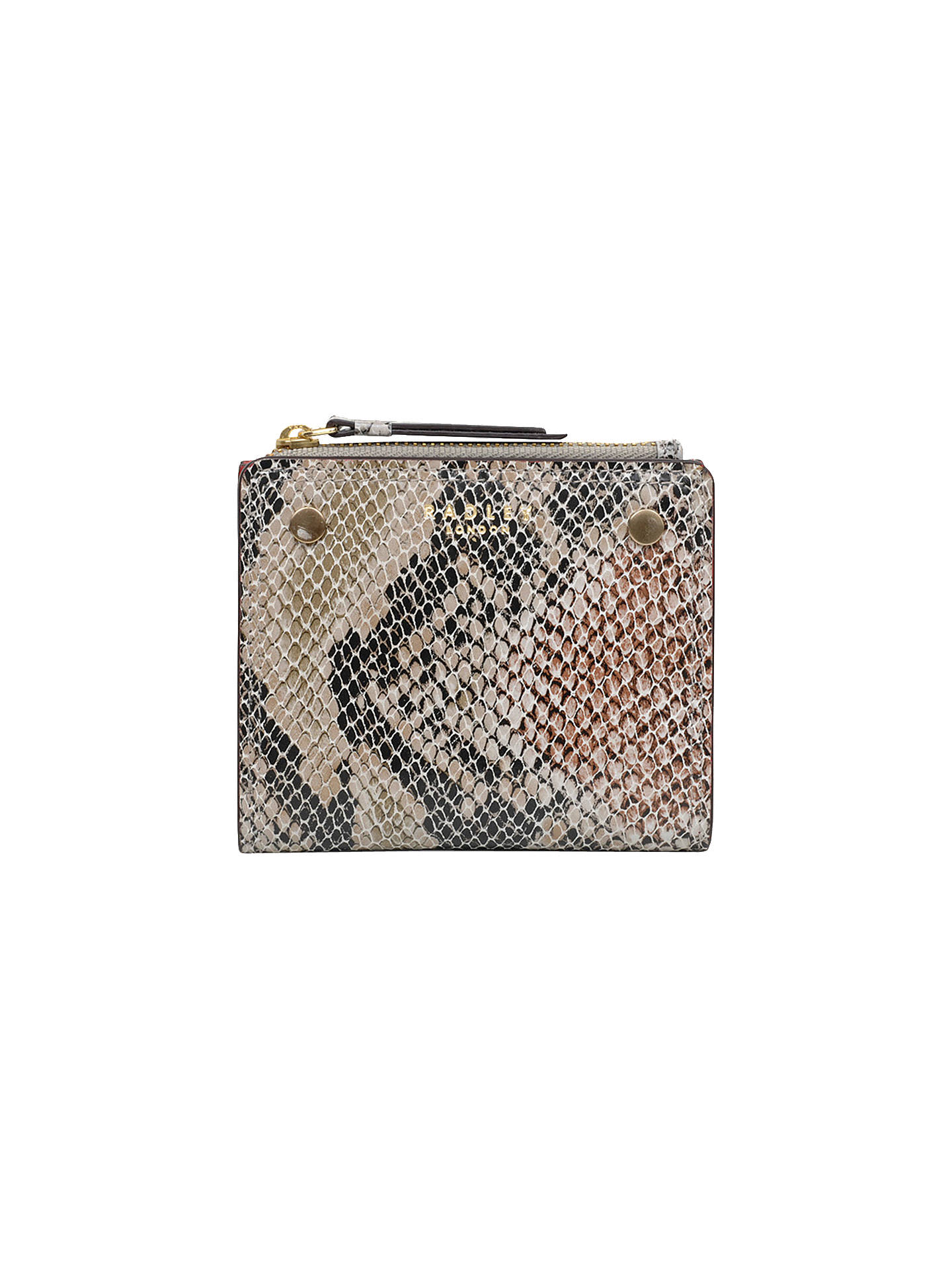 BuyRadley Clifton Hall Small Leather Purse, Animal Print Black Online at johnlewis.com