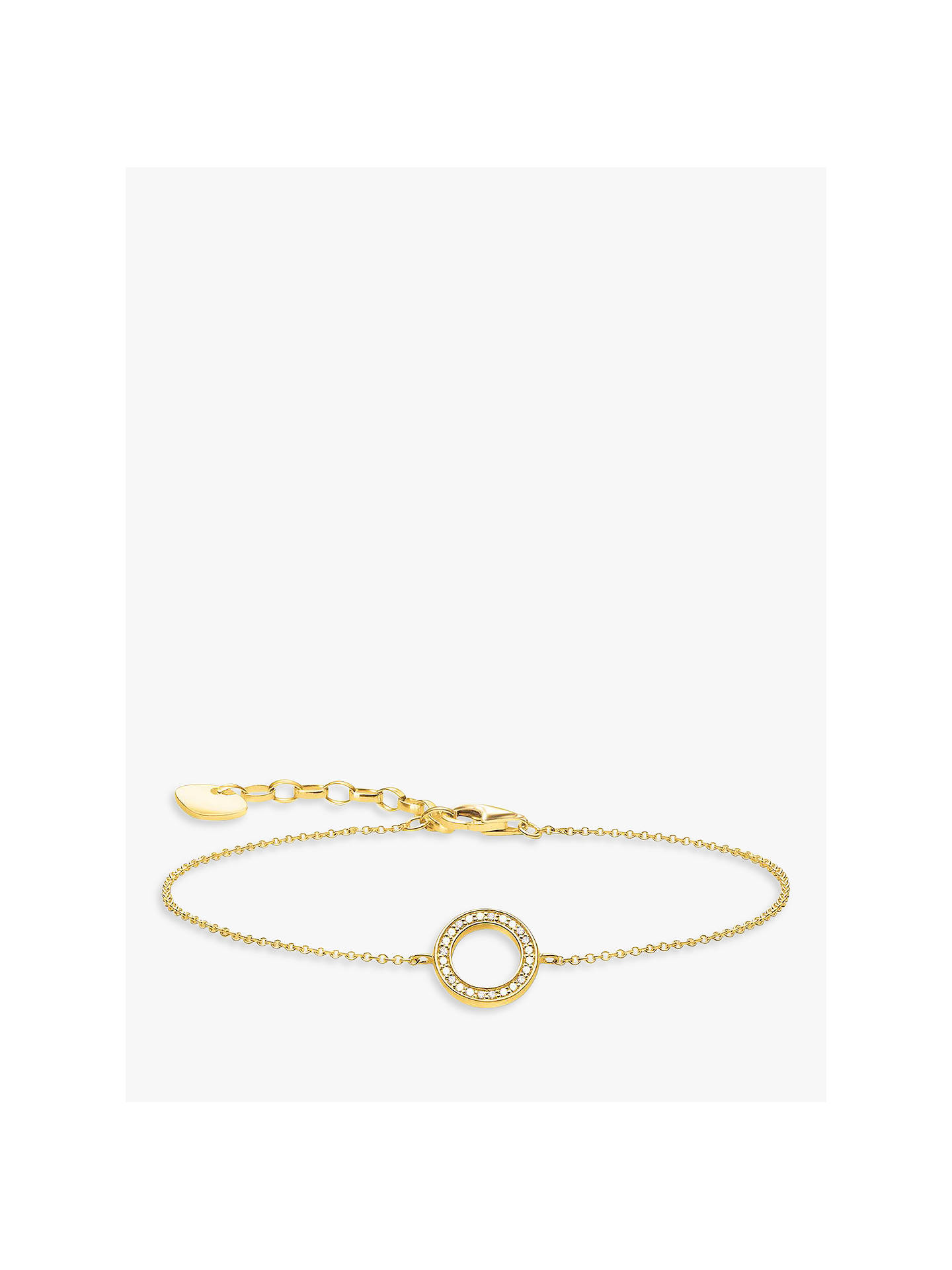 BuyTHOMAS SABO Glam & Soul Pave Circle Chain Bracelet, Gold Online at johnlewis.com