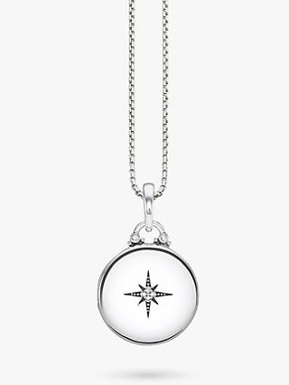 THOMAS SABO Glam & Soul Diamond Round Locket Pendant Necklace, Silver
