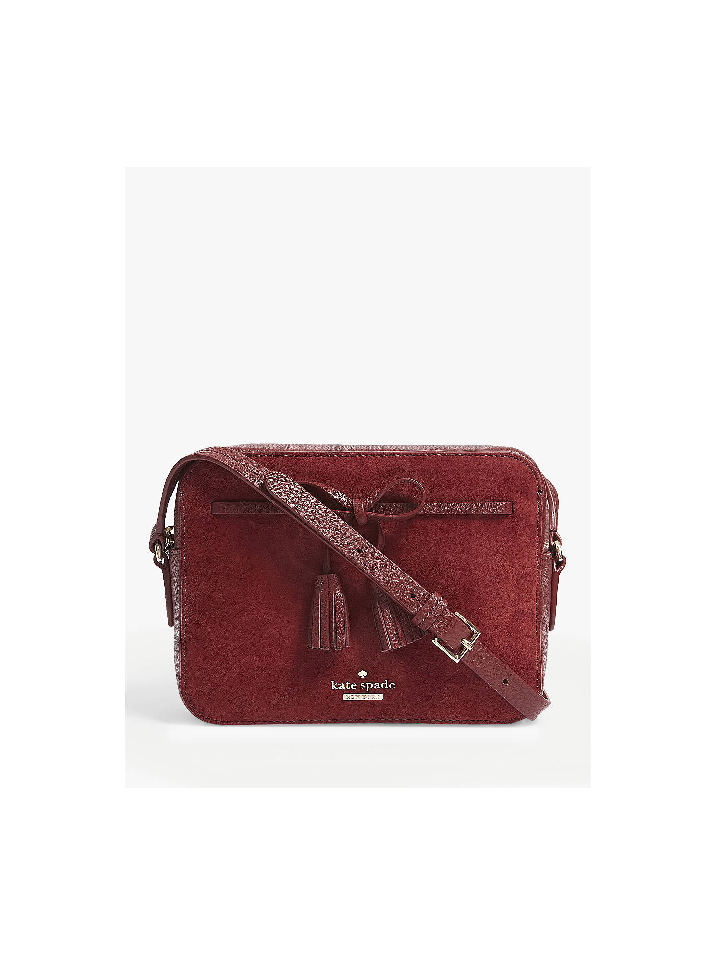 e812c64ce93d Buy kate spade new york Hayes Street Arla Suede Cross Body Bag, Sienna  Online at