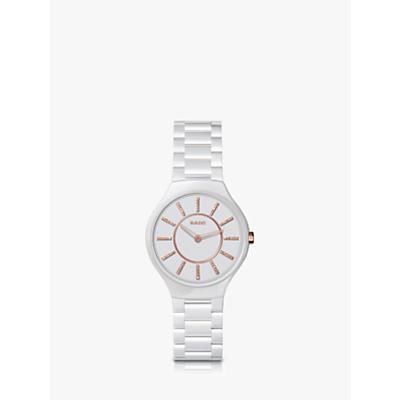 Rado R27958702 Women's True Diamond Ceramic Bracelet Strap Watch, White
