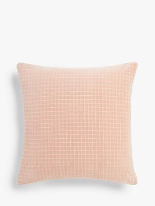 House by John Lewis Velvet Grid Cushion