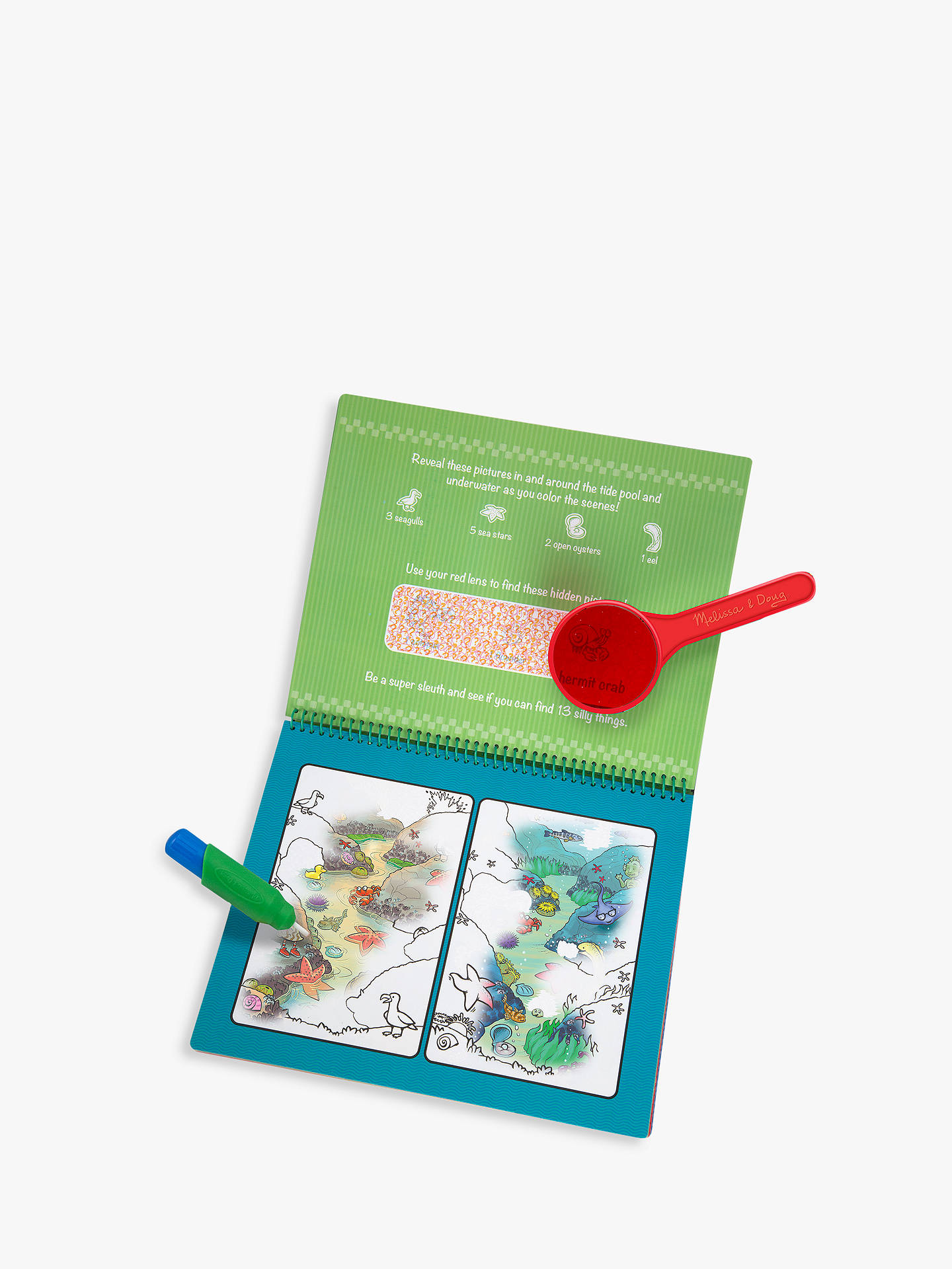 Melissa & Doug Water WOW! Deluxe On The Go Travel Activity Book