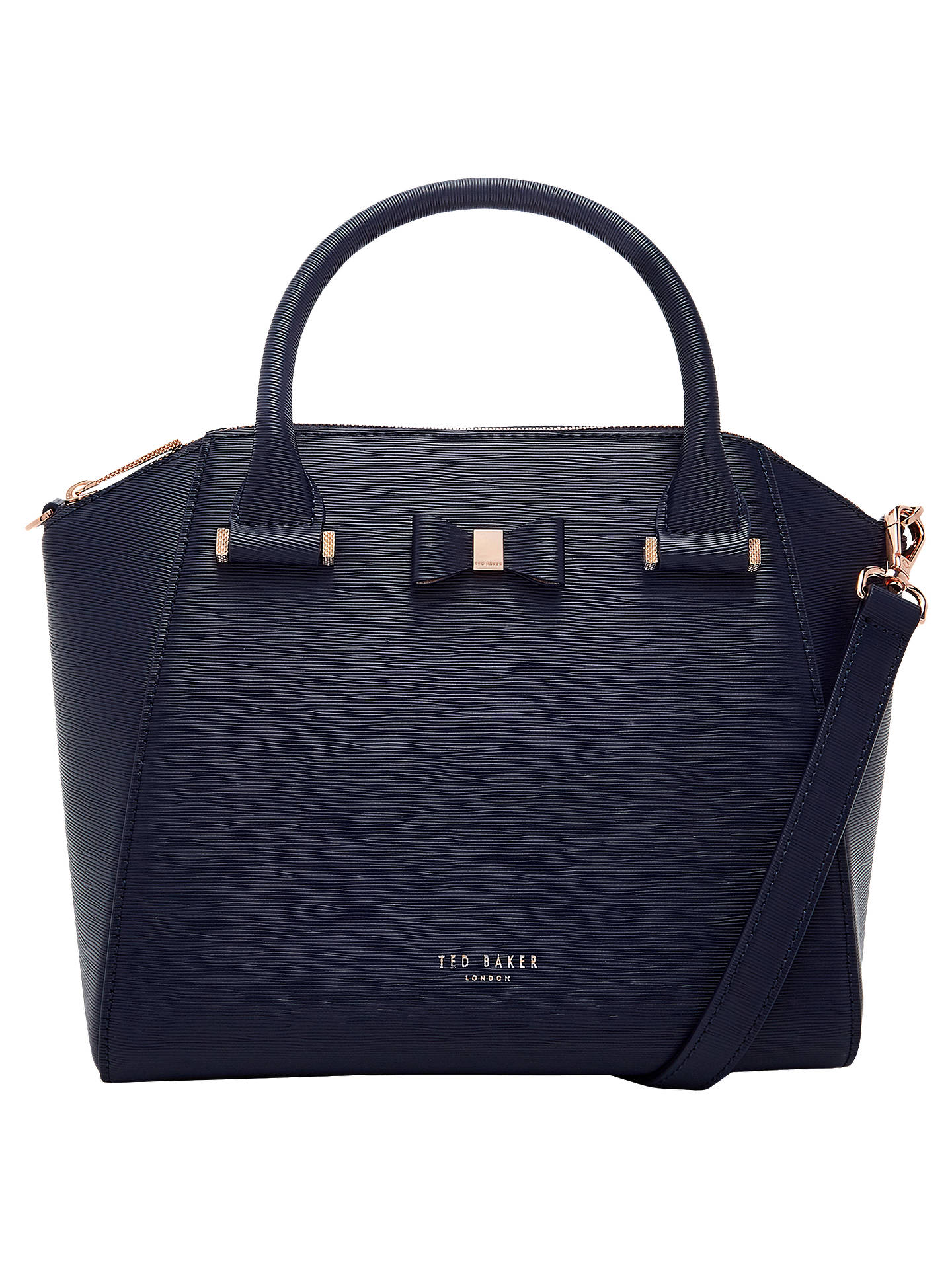 b8d66e87c5470 Ted Baker Cala Bow Small Leather Tote Bag at John Lewis   Partners