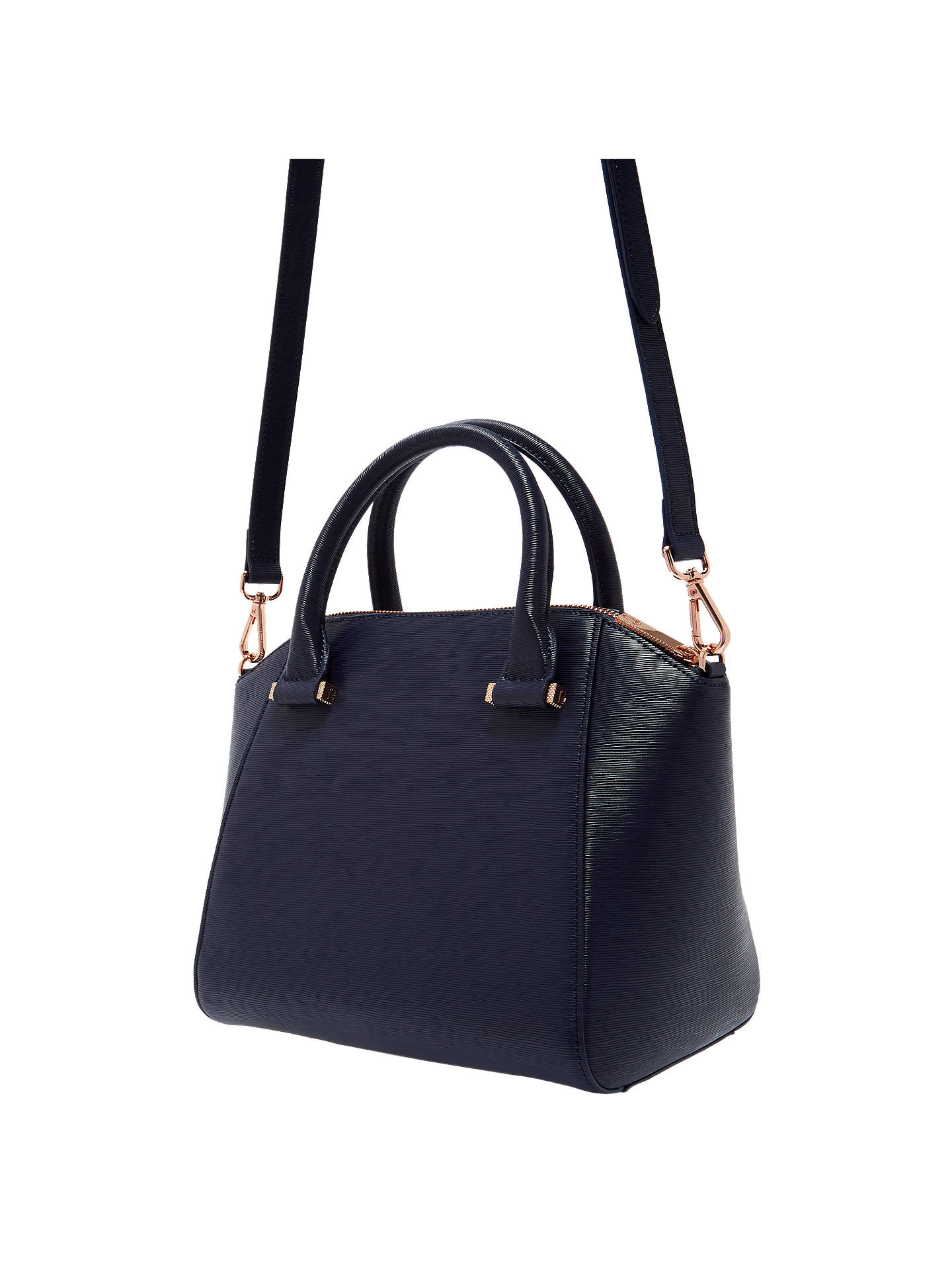 423184b3e64 Ted Baker Cala Bow Small Leather Tote Bag, Dark Blue
