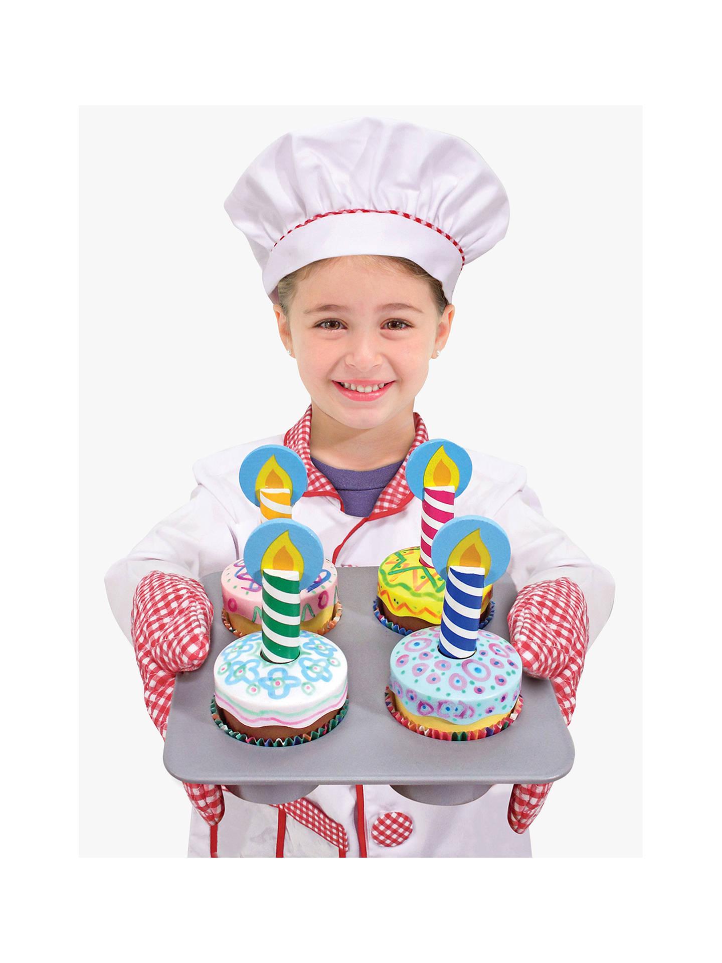 Melissa Doug Wooden Cupcake Set At John Lewis Partners
