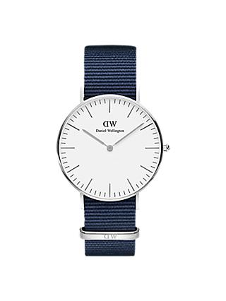 Daniel Wellington Unisex Bayswater Fabric Strap Watch