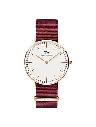 Daniel Wellington Unisex Roselyn Fabric Strap Watch