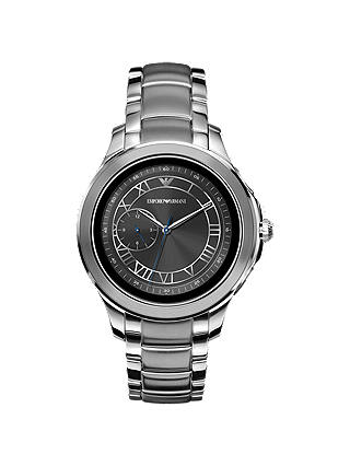 Buy Emporio Armani Connected Men's Bracelet Strap Touch Screen Smartwatch, Silver/Black ART5010 Online at johnlewis.com