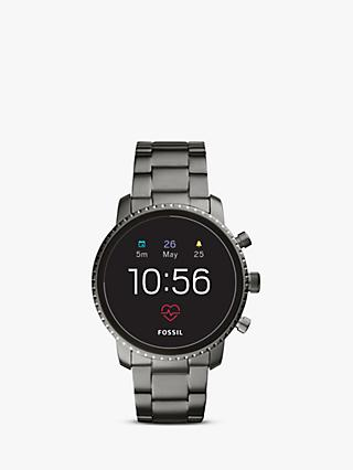 Fossil Q FTW4012 Men's Explorist Bracelet Strap Touch Screen Smartwatch, Gunmetal/Black