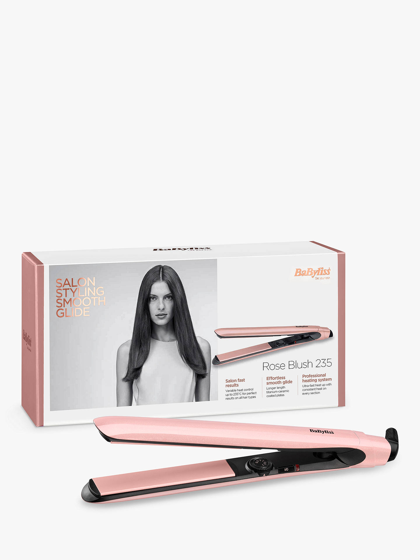 Buy BaByliss Blush Straightener, Pink Online at johnlewis.com