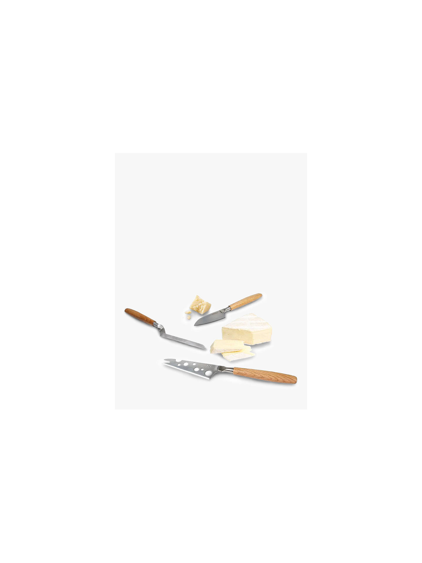 BuyBoska Oak Wood Handle Stainless Steel Cheese Knives, Set of 3 Online at johnlewis.com