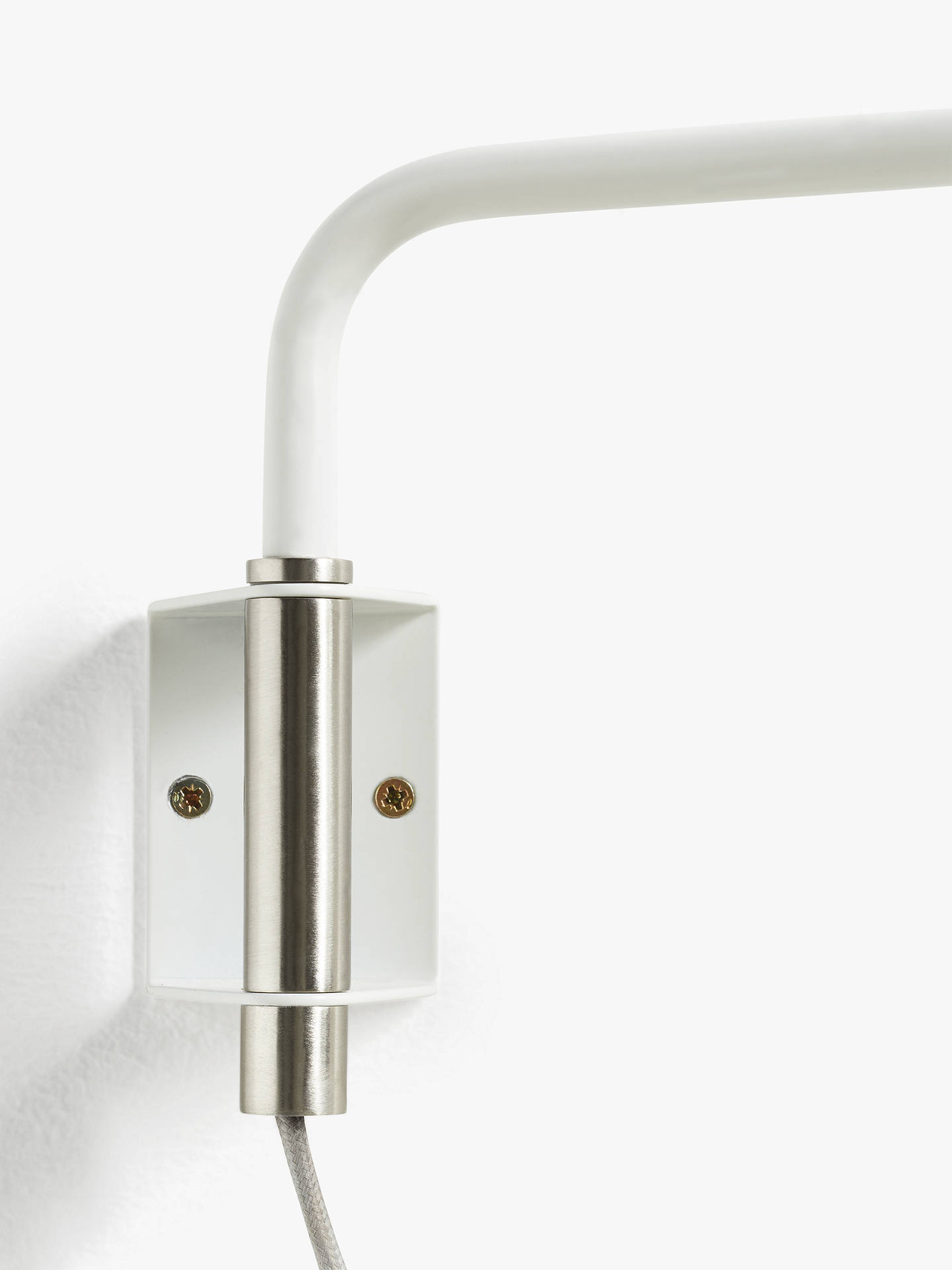 Buy Design Project by John Lewis No.045 LED Wall Light, White Online at johnlewis.com