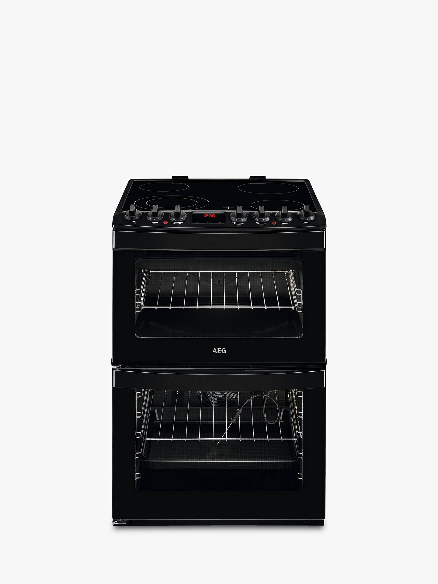 BuyAEG CCB6761ACB Freestanding Electric Cooker, A Energy Rating, 60cm Wide, Black Online at johnlewis.com