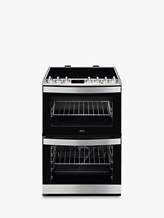AEG CCB6760ACM Freestanding Electric Cooker, A Energy Rating, 60cm Wide, Stainless Steel