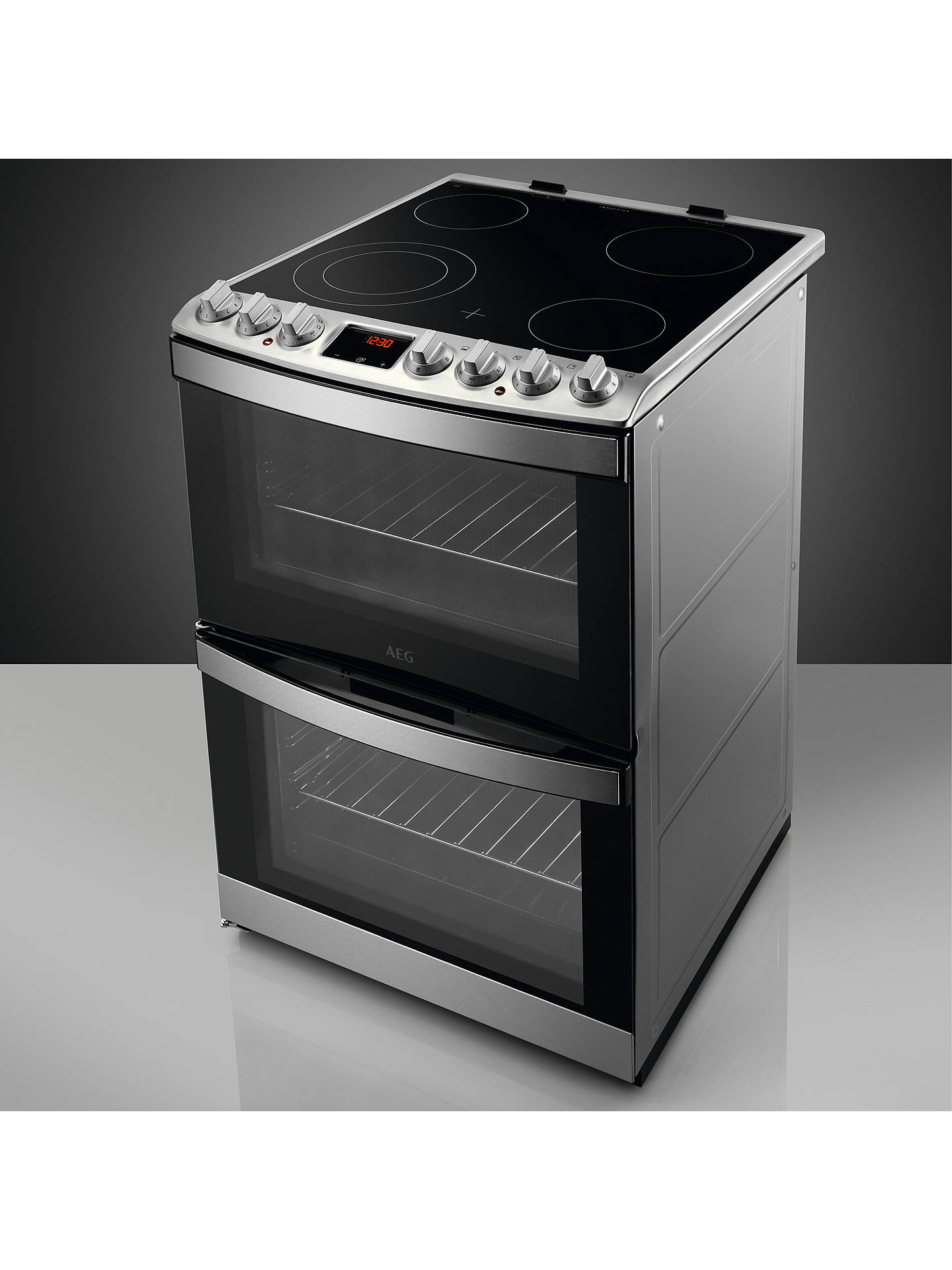 BuyAEG CCB6760ACM Freestanding Electric Cooker, A Energy Rating, 60cm Wide, Stainless Steel Online at johnlewis.com