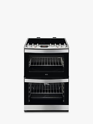 AEG CCB6740ACM Freestanding Electric Cooker, A Energy Rating, 60cm Wide, Stainless Steel