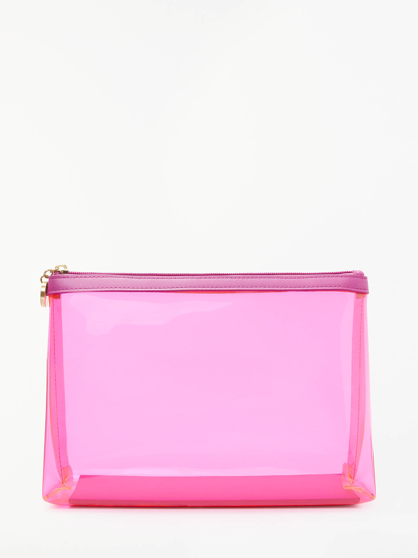2850954fb8e6 Buy John Lewis & Partners Tabitha Large Transparent Wash Bag, Pink Online  at johnlewis.
