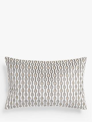 John Lewis & Partners Revina Teardrop Velvet Cushion, White