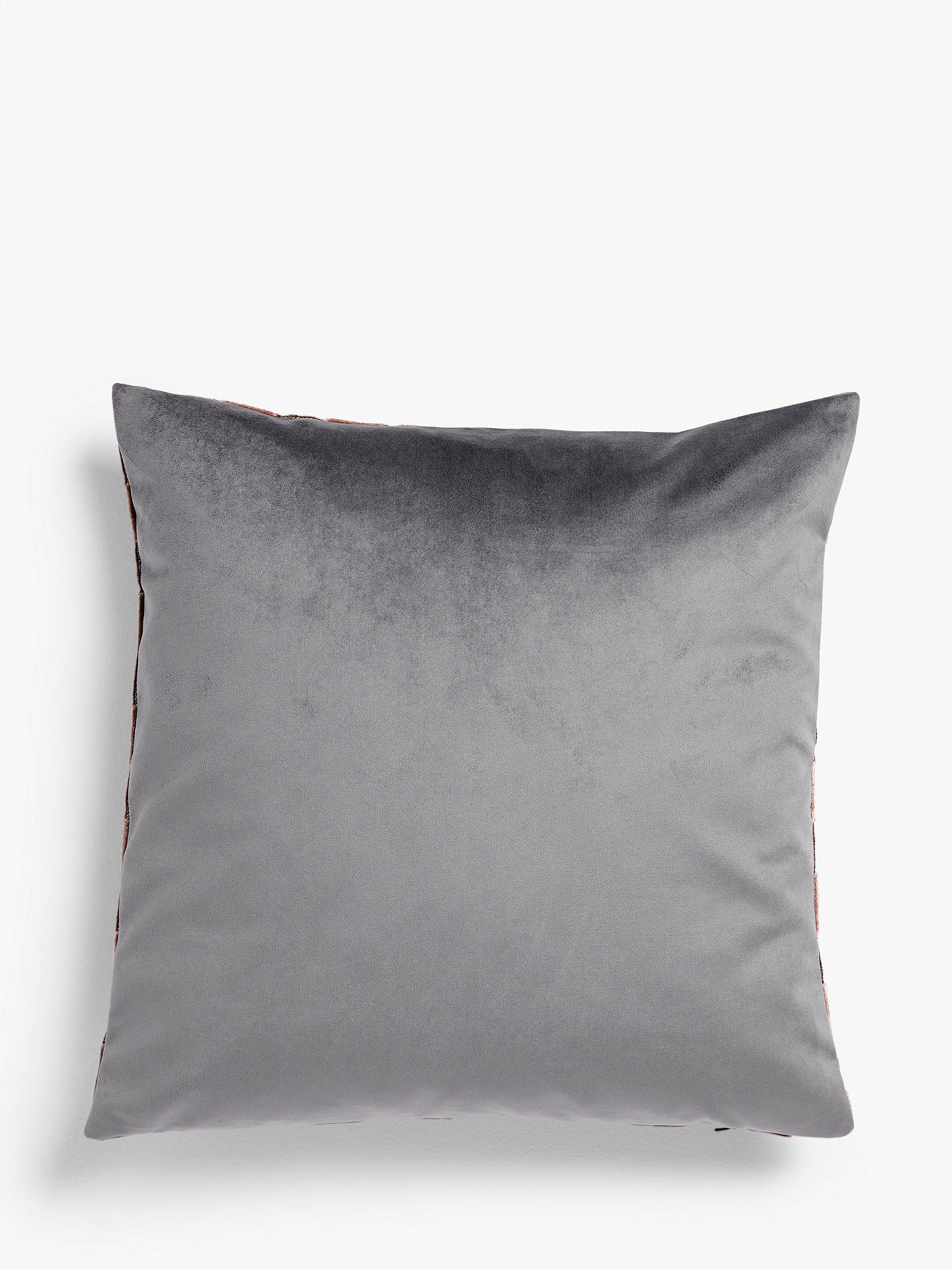 BuyJohn Lewis & Partners Marino Velvet Cushion, Pink Online at johnlewis.com