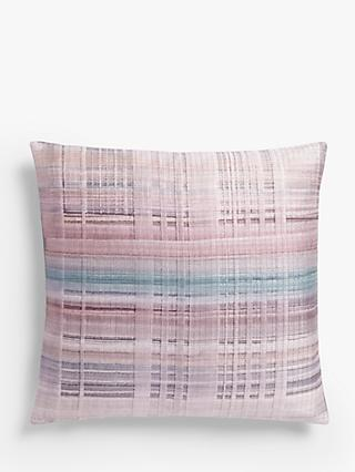 Design Project by John Lewis No.187 Cushion, Check Pink