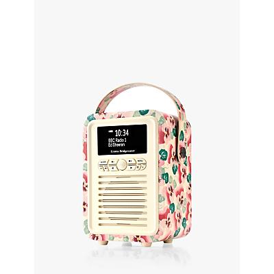 Image of VQ Retro Mini DAB/FM Bluetooth Digital Radio, Emma Bridgewater Patterns, Pink Pansy