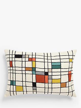 John Lewis   Partners Isak Grid Rectangular Cushion acace201c