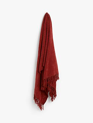 Red Throws, Blankets & Bedspreads | John Lewis & Partners