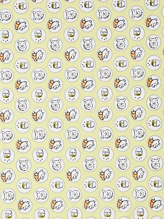Visage Textiles Winnie The Pooh and Friends Badge Print Fabric, Cream