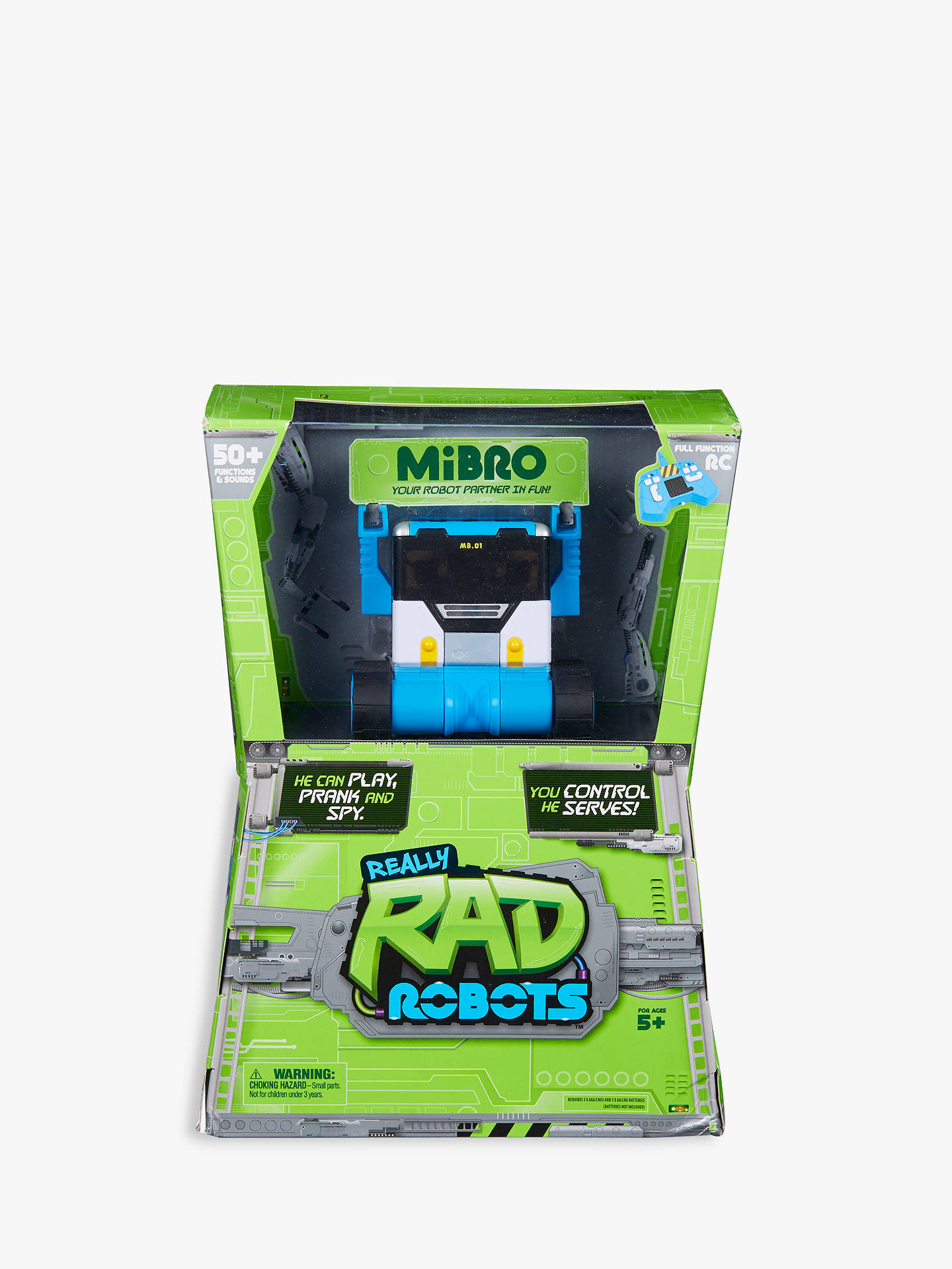 BuyReally RAD Robots Mibro Remote Control Robot Toy Online at johnlewis.com
