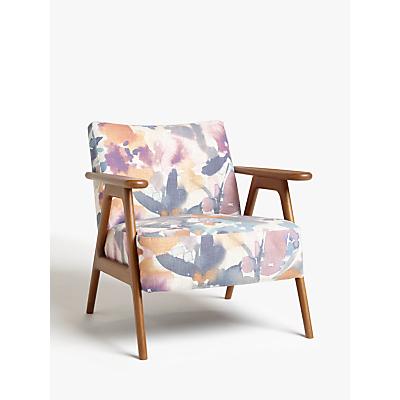 John Lewis & Partners Hendricks Accent Chair, Dark Wood Frame, Amaryllis Print