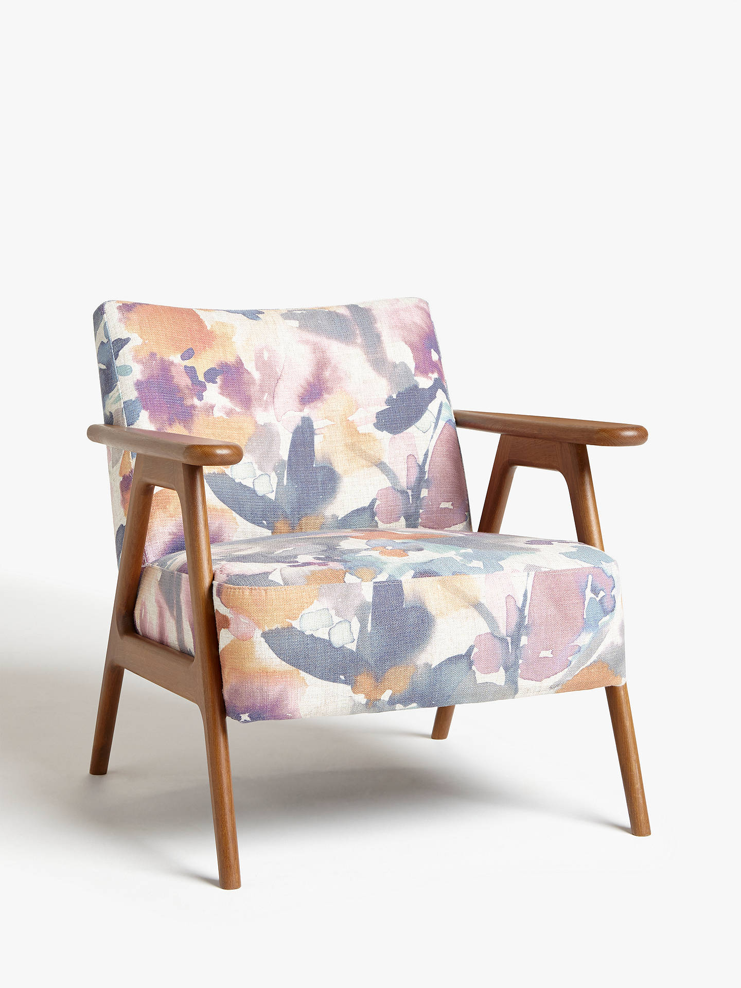 Excellent John Lewis Partners Hendricks Accent Chair Dark Wood Frame Amaryllis Print Gmtry Best Dining Table And Chair Ideas Images Gmtryco