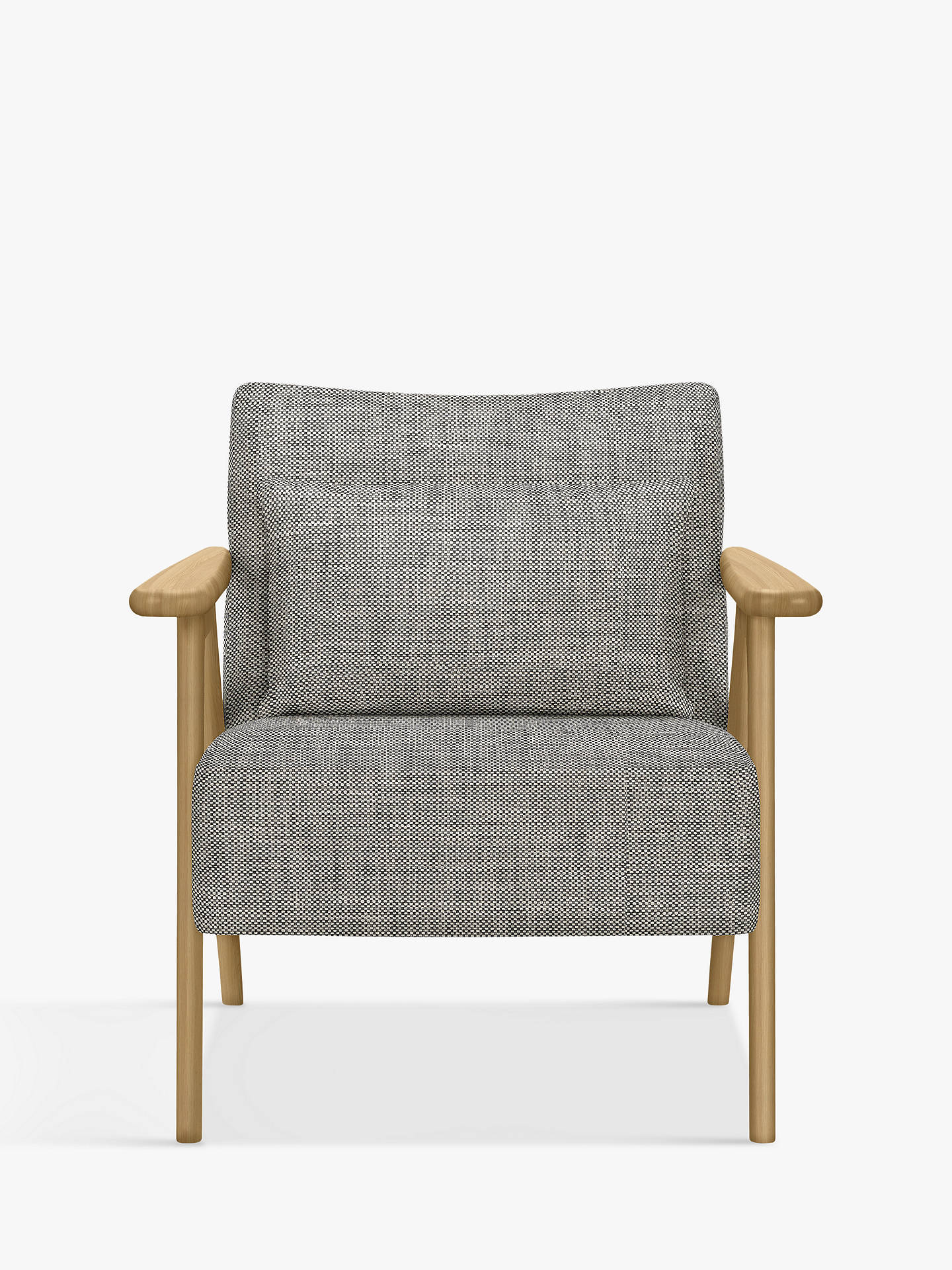 Super John Lewis Partners Hendricks Accent Armchair Light Wood Frame Elsie Storm Bralicious Painted Fabric Chair Ideas Braliciousco