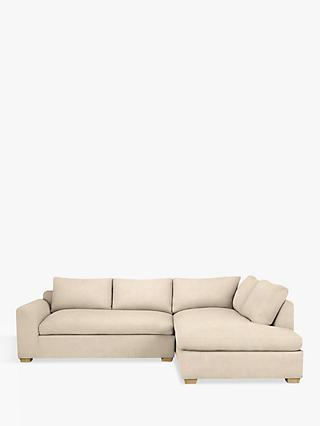 John Lewis & Partners Tortona RHF Chaise End Sofa, Light Leg, Maria Putty