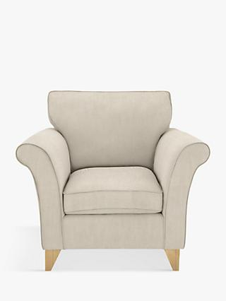 John Lewis & Partners Charlotte Armchair Light Leg, Edie Grey
