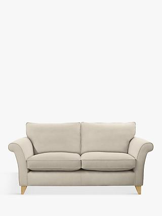 John Lewis & Partners Charlotte Large 3 Seater Sofa, Light Leg, Edie Grey