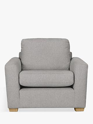 House by John Lewis Oliver Armchair, Light Leg, Aquaclean Matilda Steel