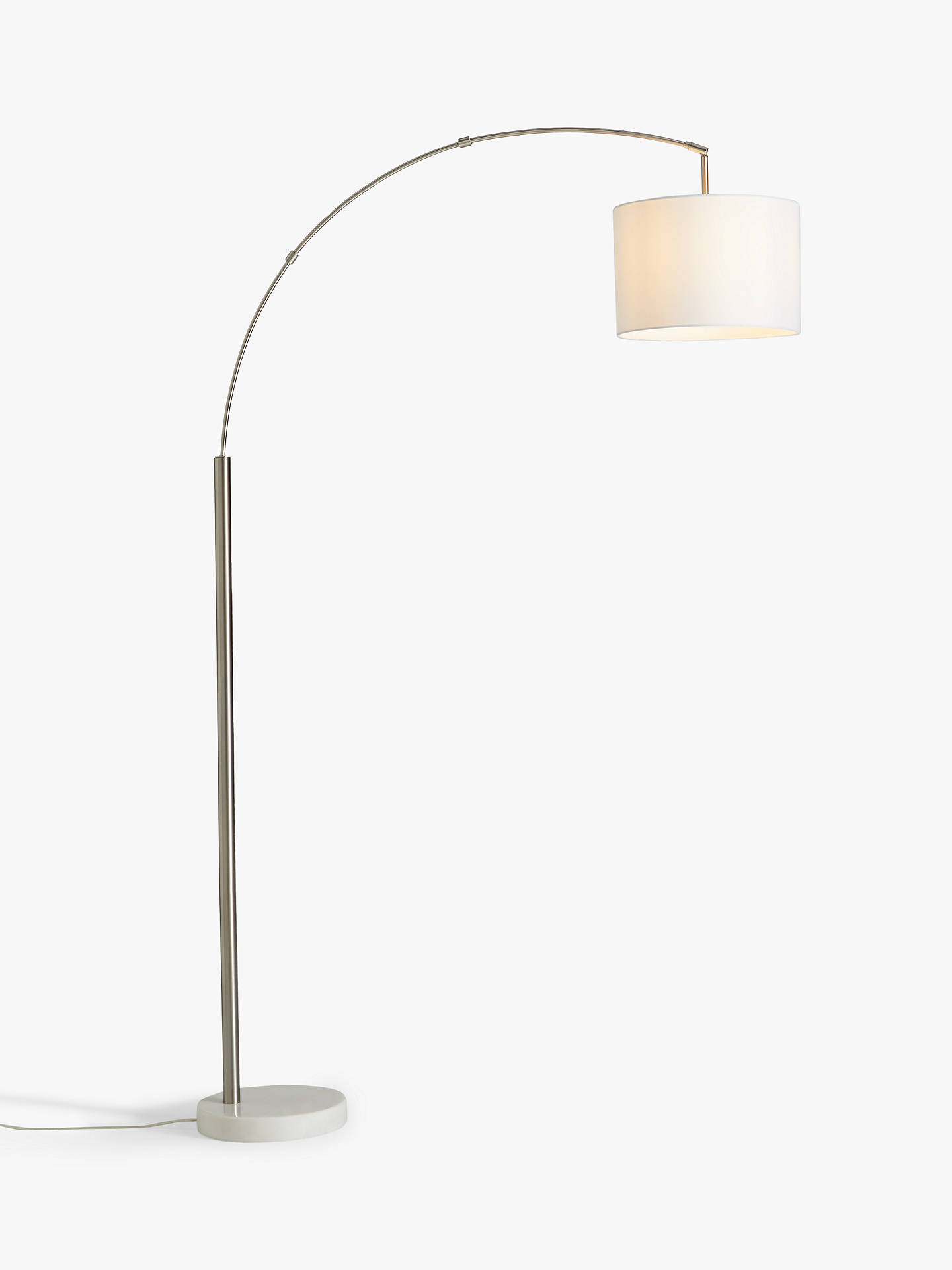 House By John Lewis Angus Arched Floor Lamp Brushed Steel