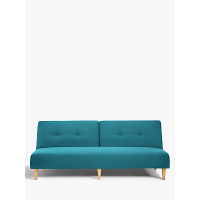 Image of House by John Lewis Clapton Fixed Back Sofa Bed, Fraser Teal