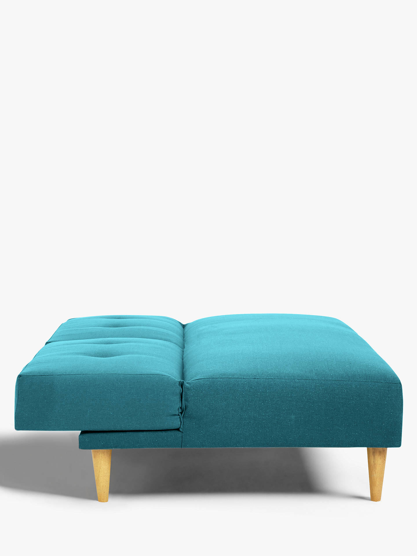 Buy House by John Lewis Clapton Fixed Back Sofa Bed, Light Leg, Fraser Teal Online at johnlewis.com