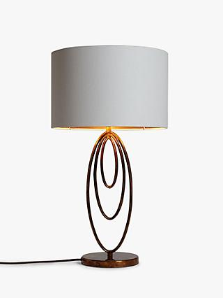 John Lewis & Partners Ethan Loop Table Lamp, Copper Lustre