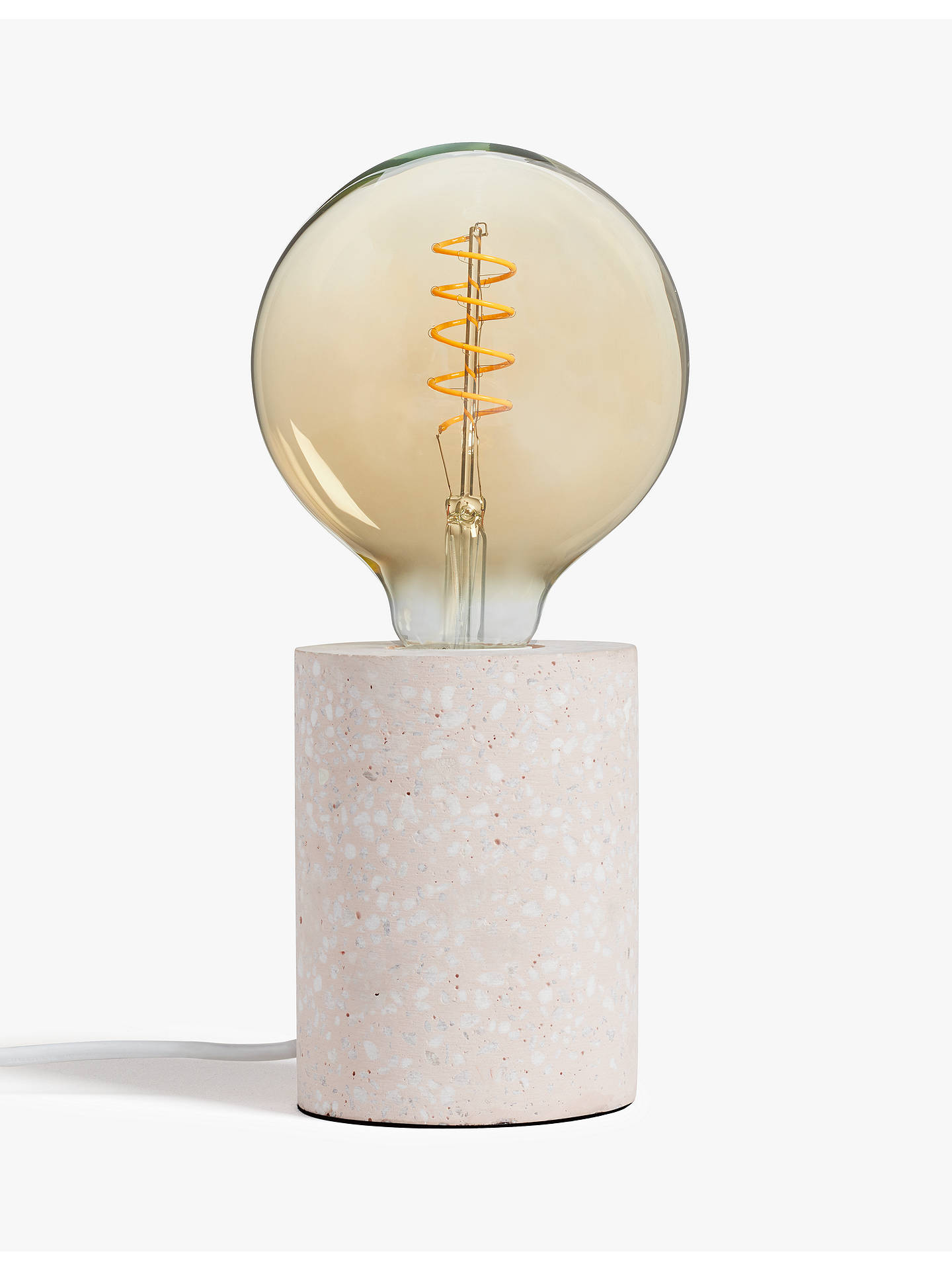 Buy House by John Lewis Terrazzo Bulbholder Table Lamp, Pink Online at johnlewis.com