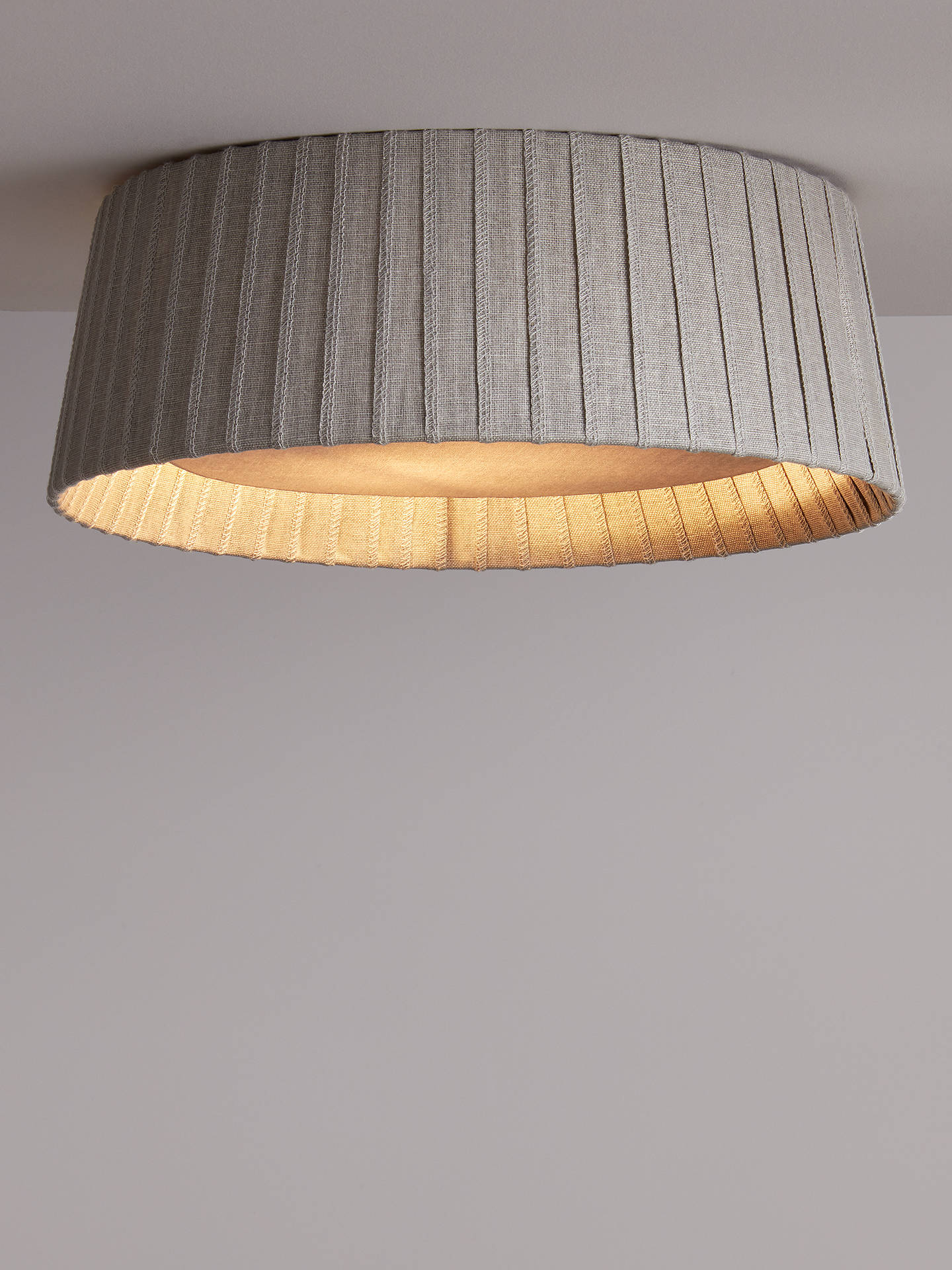 Buy Croft Collection Bampton Semi-Flush Ceiling Light, Grey Online at johnlewis.com