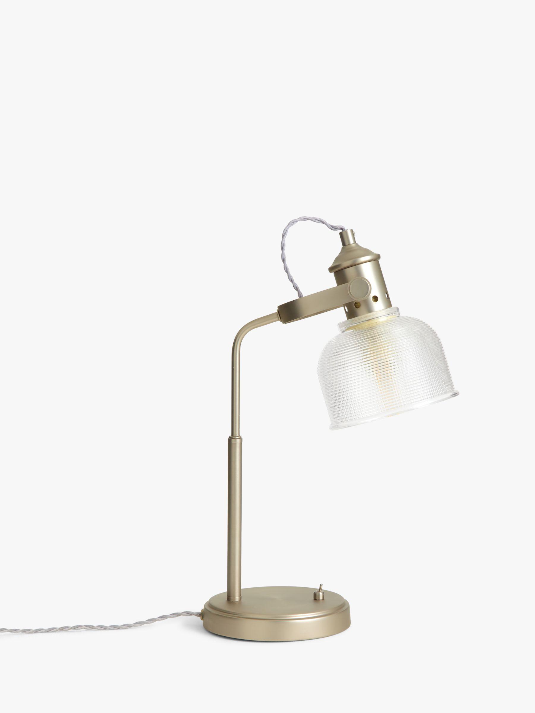 Croft Collection Ezra Prismatic Glass Task Lamp Brushed Pewter At John Lewis Partners