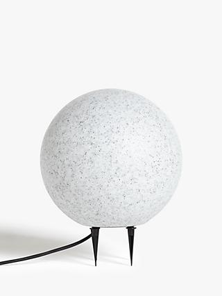 John Lewis & Partners Outdoor Portable Lamp, Pebble
