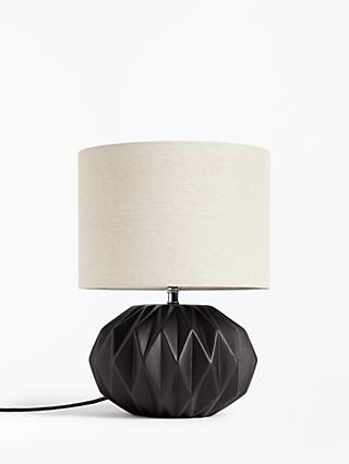 John Lewis & Partners Nico Ceramic Table Lamp, Matt Black
