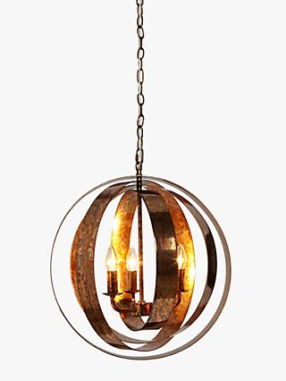 John Lewis U0026 Partners Ethan Ceiling Light, Copper Lustre