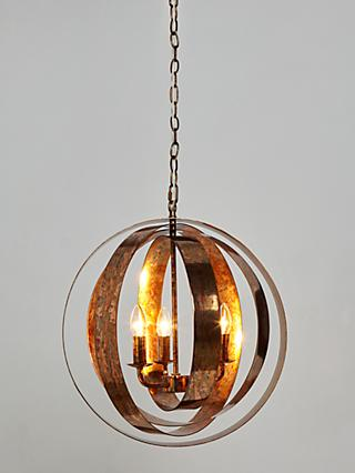 John Lewis & Partners Ethan Ceiling Light, Copper Lustre